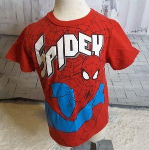 3/$15 Marvel Spidey Spiderman red tee shirt size 7